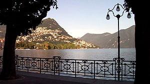 Montagnola - Photo of Lake Lugano near Montagnola