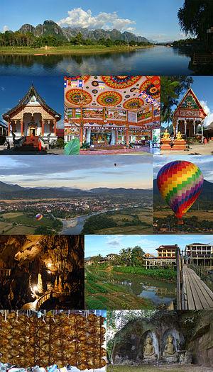 Vientiane Province - Image: Montage of Vientiane Province, Laos (2013)
