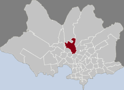 Location of Peñarol - Lavalleja in Montevideo