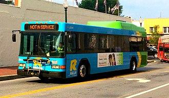 DASH (bus) - a Ride On Gillig Low Floor Hybrid bus