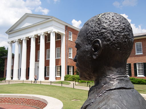 Monument to James Meredith - Who Desegregated Ole Miss - University of Mississippi - Oxford - Mississippi - USA - 03