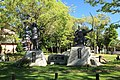 Monuments of Imagawa Yoshimoto & Oda Nobunaga, Okehazamakita Midori Ward Nagoya 2012.jpg