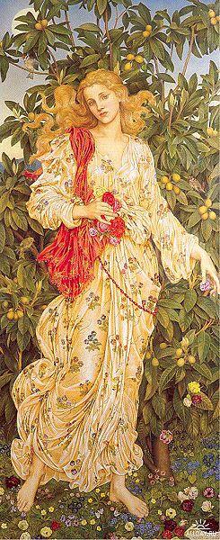 Biografia y Obras de los Pintores de la Hermandad Prerrafaelita - I - Página 2 245px-Morgan%2C_Evelyn_de_-_Flora_-_1894
