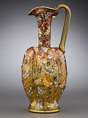 Moser (glass company) - Amberina glass pitcher by Moser. Circa 1880