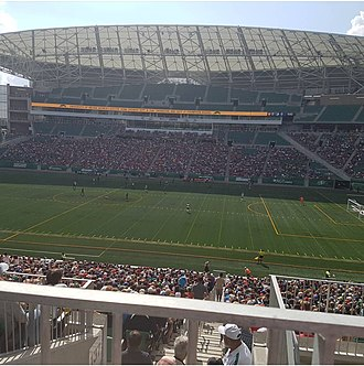 Mosaic Stadium - Mosiac Stadium during a Soccer Game.