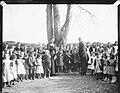 Mostly barefoot schoolchildren Kilglass National School, Ahascragh, County Galway, 1900s (17254839892).jpg