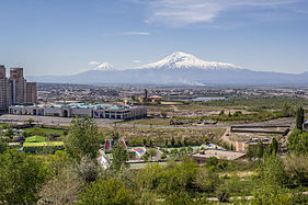 Mount Ararat viewed from Tsitsernakaberd Armenian Genocide Memorial.jpg