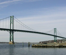 Le Mount Hope Bridge au nord de Portsmouth