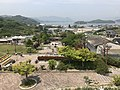 Mount Umagamiyama and Kobosojima Island from observation deck in Innoshima Flower Center 2.jpg