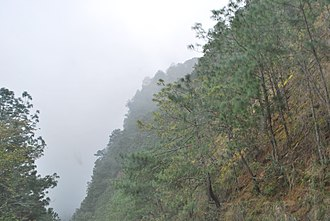 Pahuatlán - Steep mountainsides of the Sierra Norte of Puebla around Pahuatlán