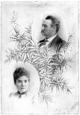 James A. Herne - Herne and his wife Katherine Corcoran