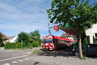 Frauenfeld–Wil railway narrow-gauge train service in the canton of Thurgau, Switzerland