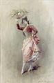 Mujer con pandereta Daniel hernandez.PNG