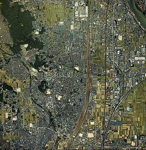 Mukō - Mukō,1987 aerial photography