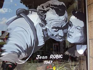 Mûr-de-Bretagne - A painting of Jean Robic - Mûr-de-Bretagne - Tour de France 2011.
