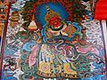 Mural painting at Buddhist temple, Bylakuppe.jpg