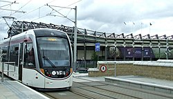 Murrayfield Stadium tram stop (geograph 4017641).jpg