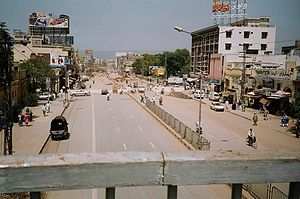 English: One of the famous roads in Rawalpindi...
