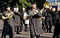 "Musicians with the U.S. Naval Forces Europe Band play the theme song from the 1960s TV series ""Batman"" July 30, 2012, in Edinburgh, Scotland, in preparation for the Royal Edinburgh Military Tattoo 120730-N-VT117-765.jpg"