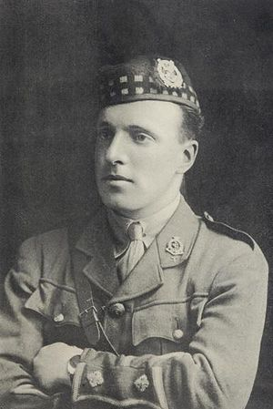 Noel Godfrey Chavasse - Portrait of N.G. Chavasse wearing the glengarry of the Liverpool Scottish