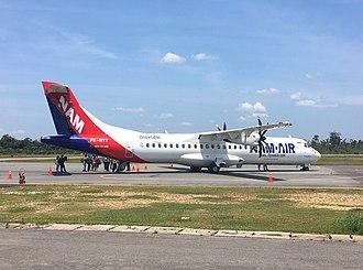 NAM Air - NAM Air ATR 72-600 at Tebelian Airport, Sintang