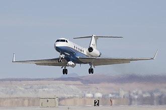 Gulfstream III - NASA's Gulfstream landing at Edwards Air Force Base