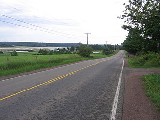 New Brunswick Route 114 - Route 114 passes through Lower Coverdale on the eastern edge of the town of Riverview. The road parallels the south and east bank of the Petitcodiac River from Riverview to Riverside-Albert.