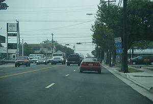 New Jersey Route 47 - Image: NJ 47 SB at Park Boulevard
