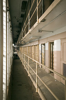 One side of cellblock 4, where isolated prisoners were held