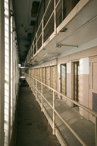 New Mexico State Penitentiary riot - One side of cellblock 4, where isolated prisoners were held