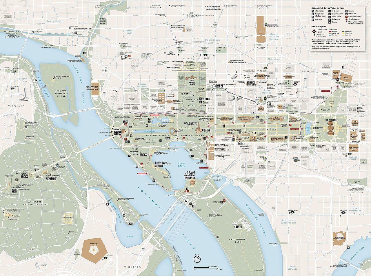 FileNPS Nationalmallmapjpg Wikimedia Commons - Us Capital Map Of The Mall