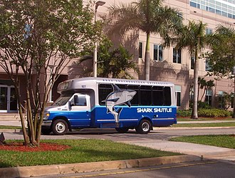 Nova Southeastern University - Shark Shuttle has services both on campus and between campuses.