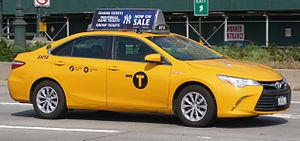 Hybrid taxi - Toyota Camry Hybrid taxi in New York City
