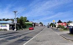 State Highway 1 at Waikouaiti, looking south