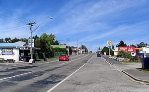 Waikouaiti - State Highway 1 at Waikouaiti, looking south