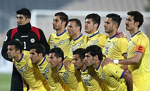 Naft Tehran F.C. - Naft Tehran team image before match against El Jaish in AFC Champions League, 9 February 2016