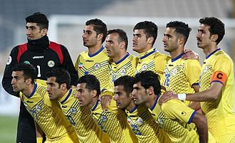 Naft Tehran F.C. - Naft Tehran team image before match against El Jaish in AFC Champions League, 9 February 2016