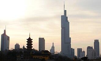 Yangtze River Delta - Image: Nanjing Skyline 2010