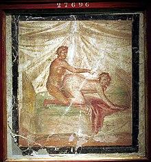 Scena erotica (da un lupanare pompeiano)
