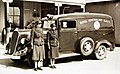 National Emergency Service drivers with a Royal Australian Navy ambulance during World War II.jpg
