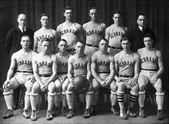Nebraska Cornhuskers men's basketball - The 1921 basketball team.