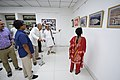 Nemai Ghosh Accompanied By Biswatosh Sengupta Visiting 1st Four Ps Group Exhibition - Kolkata 2019-04-17 5248.JPG