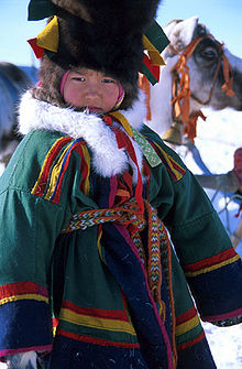 people wikipedia kleding but children peoples nenets traditionele kind siberie child