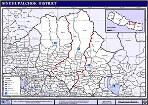 Sindhupalchok District - Image: Nepal Sindhupalchok Districtmap