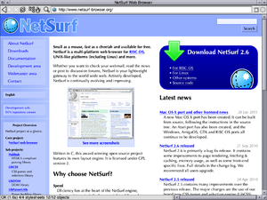 NetSurf running on RISC OS