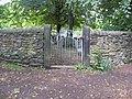 New Whittington - Gate entrance to St.Bartholomew's Church from Footpath - geograph.org.uk - 865009.jpg