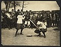 "New York female ""Giants"" - Miss McCullum catcher and Miss Ryan at bat LCCN2008677276.jpg"