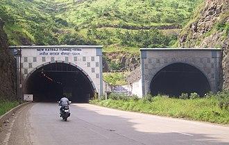 National Highway 48 (India) - New Katraj Tunnel at Katraj Ghat