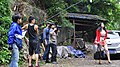 Ni Jing Thou Shalt Not Steal shooting with directors Roberto F. Canuto & Xu Xiaoxi, actress Xia Ruihong and some of the crew.jpg