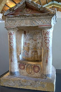 Aedicula Small shrine in ancient Roman religion